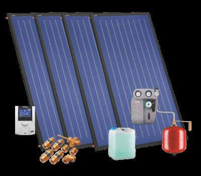 Aurinkokeräimet 5-6 henkilölle omakotitaloon