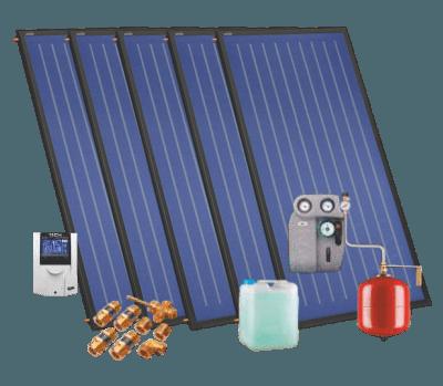 Aurinkokeräimet 7-8 henkilölle omakotitaloon