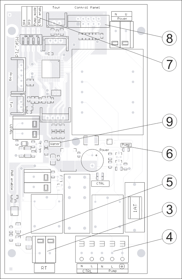 Sähkökattila EKCO A1 kytkennät