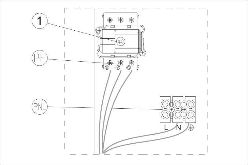 Sähkökattila EKCO A1 suojakytkin ja sähkökytkentä