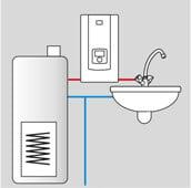 KDE5 electronic LCD vedenlämmitin ja käyttövesivaraaja