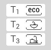 KDE5 electronic LCD vedenlämmittimen lämpötila asetukset