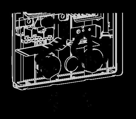 KDE5 vedenlämmitin putkiyhteet alaspäin asennus